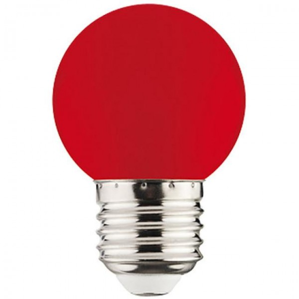 1W LED-Leuchtmittel Tropfen E27 rot 34lm P40