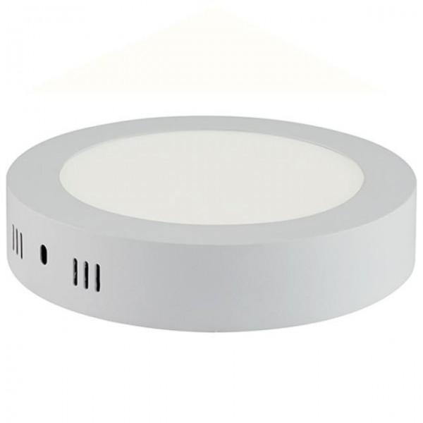 LED Aufputz Panel 12W rund weiss kaltweiss 6400K