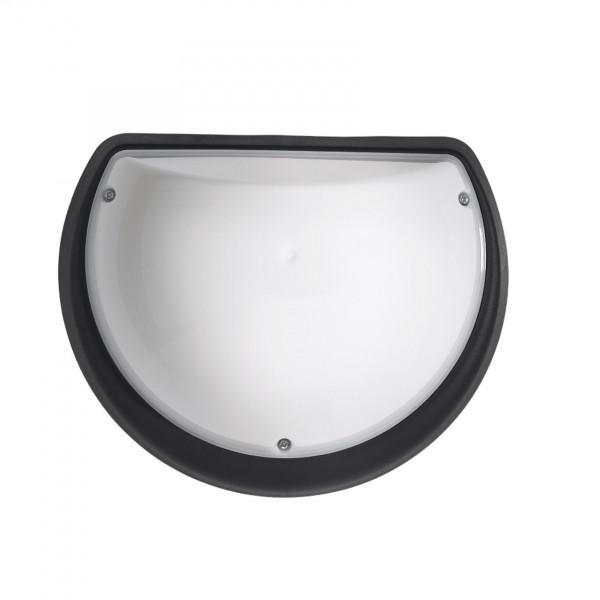 Sensor-Außenleuchte Mondschein OPAL mit Infrarot-Minisensor schwarz 9W