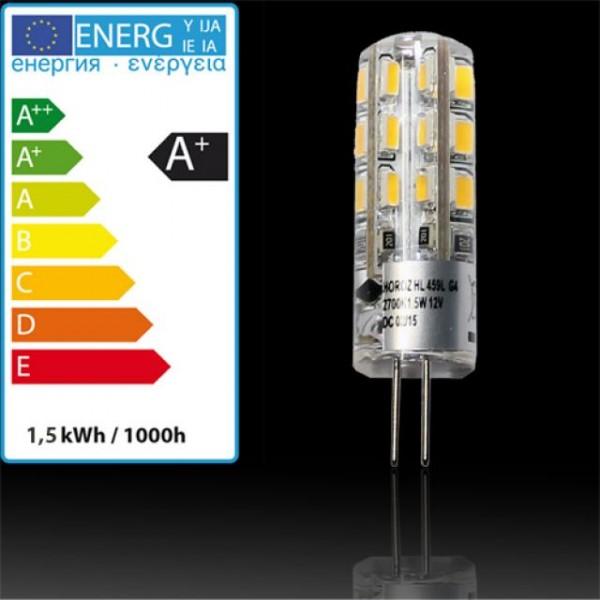 1,5W LED-Leuchtmittel Silikon G4 kaltweiss 6400K