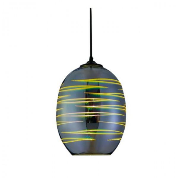 Oval Chrom E27 3D Pendellampe H?ngeleuchte Pendelleuchte - LASER