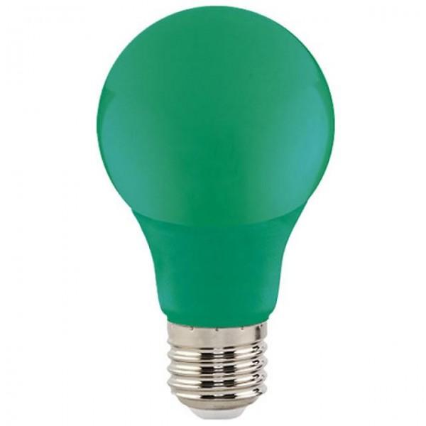 3W LED-Leuchtmittel Glühlampenform E27 grün 205lm A60