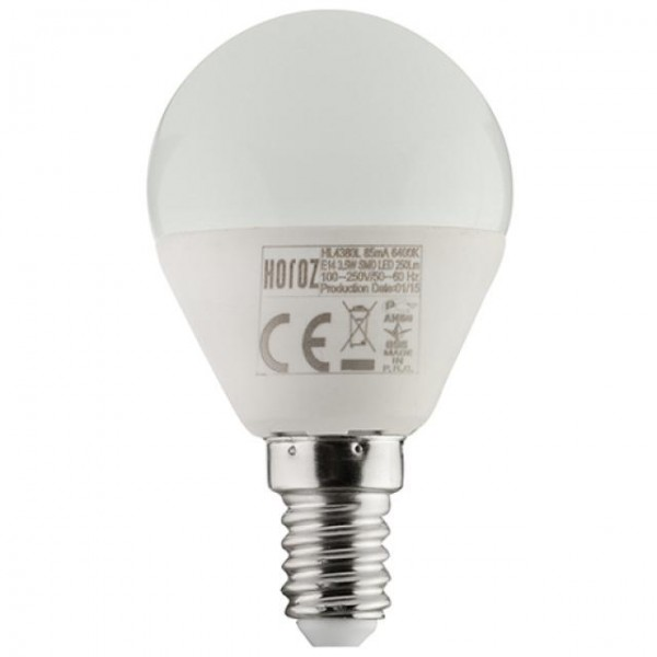 4W LED-Leuchtmittel Tropfen E14 kaltweiss 6400K P40