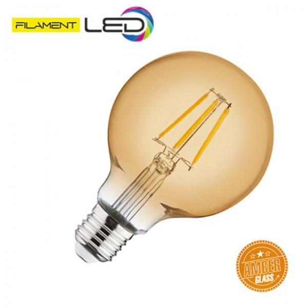 4W LED-Leuchtmittel Filament Kugel Rustika E27 warmweiss 2200K