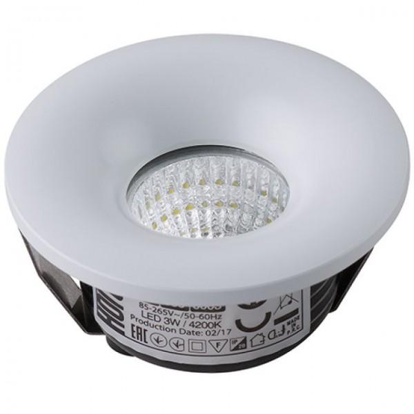 LED Mini Einbaustrahler Minispot flach rund 3W weiss neutralweiss 4200K