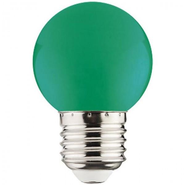 1W LED-Leuchtmittel Tropfen E27 grün 68lm P40