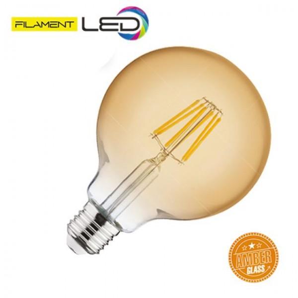 6W LED-Leuchtmittel Filament Kugel Rustika E27 warmweiss 2200K