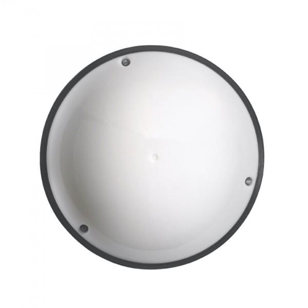 Sensor-Außenleuchte Vollmond OPAL mit Infrarot-Minisensor schwarz 12W