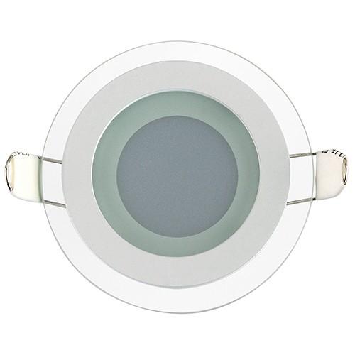 LED Glas Einbaustrahler Diamant rund 6W 3000K warmweiss