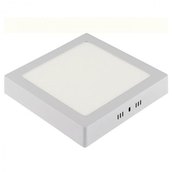 LED Aufputz Panel 18W eckig weiss warmweiss 3000K