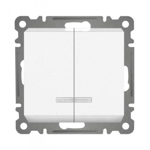 SERIENSCHALTER mit LED ( Einsatz + Wippe ) LUNIS Alpinweiss