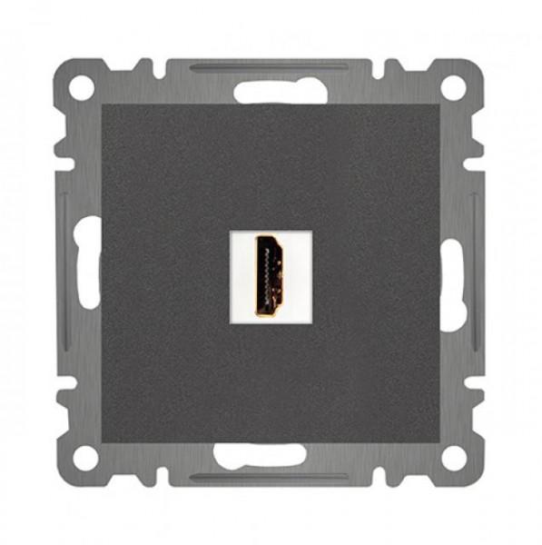 HDMI DURCHGANG ANSCHLUSSDOSE ( Einsatz + Deckel ) LUNIS ANTHRAZIT