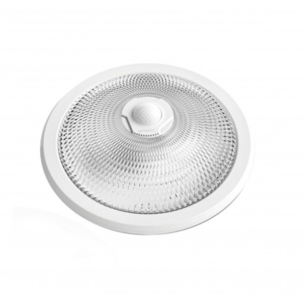 Deckenlampe mit 360° Bewegungsmelder 2x E27-Fassung Treppenhaus- Flurbeleuchtung