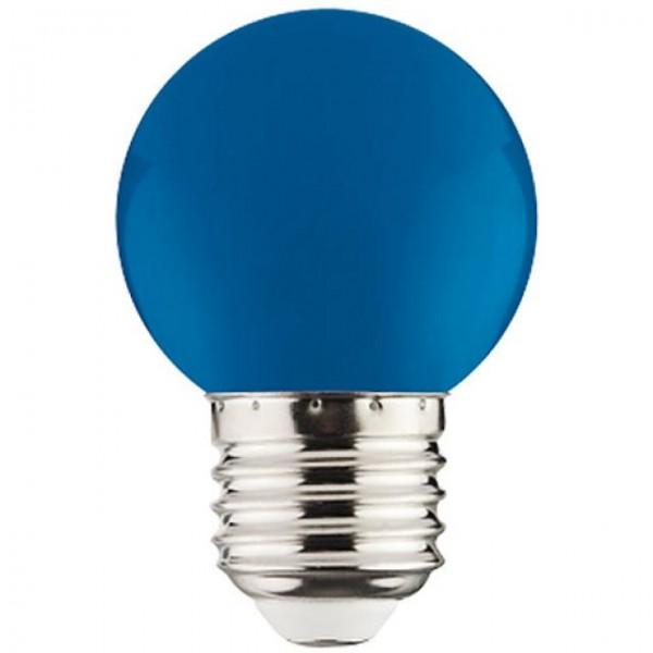 1W LED-Leuchtmittel Tropfen E27 blau 12lm P40