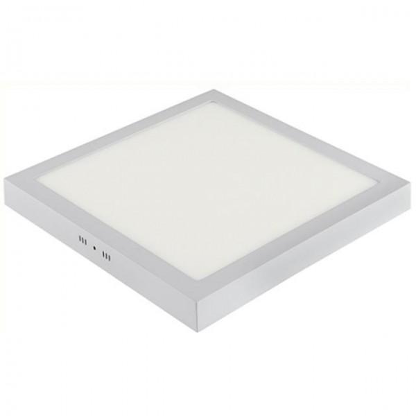 LED Aufputz Panel 28W eckig weiss warmweiss 3000K