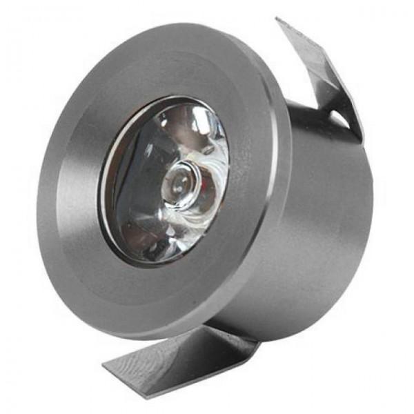 LED Mini Einbaustrahler Minispot starr 1W matt-chrom neutralweiss 4200K