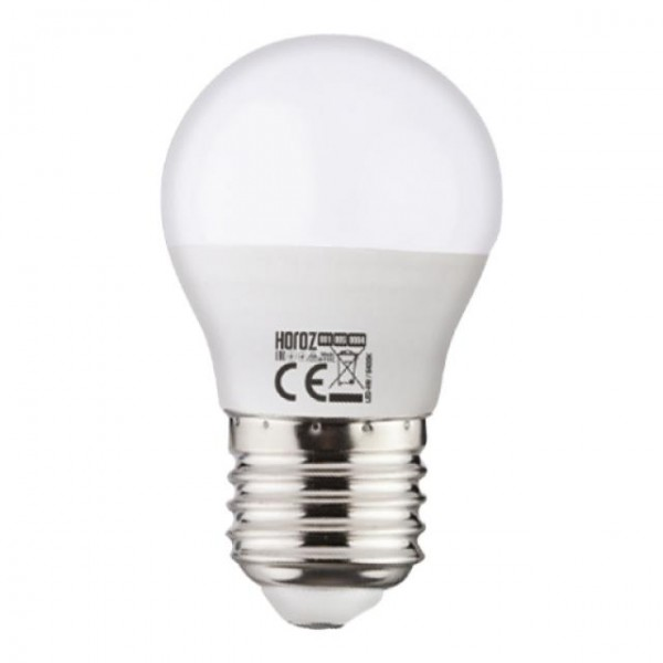6W LED-Leuchtmittel Tropfen E27 kaltweiss 6400K P40