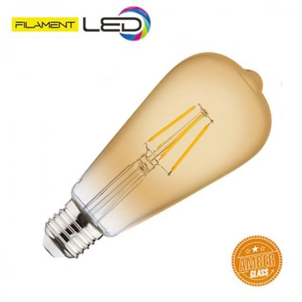 4W LED-Leuchtmittel Filament Edison Rustika E27 warmweiss 2200K
