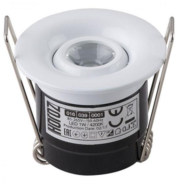 LED Mini Einbaustrahler Minispot schwenkbar rund 1W weiss neutralweiss 4200K